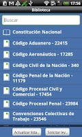 Screenshot of Argentina Constitution