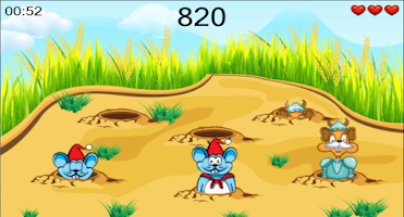 Screenshot of Beating Mice Saving Rice Fun
