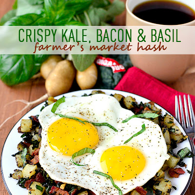 Crispy Kale, Bacon and Basil Farmer's Market Hash