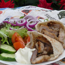 Greek-Style Pork Gyros Plate
