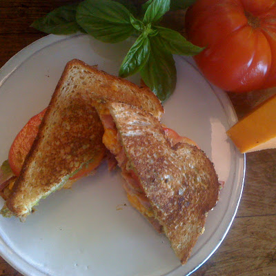 Mary's Plain Old Simple Ham and Cheese Sandwich