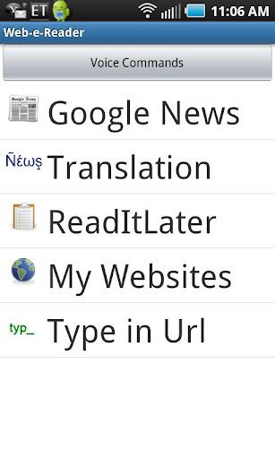 Web Reader Translator