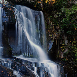 Estatoe Falls by Sandra Maldonado - Landscapes Waterscapes