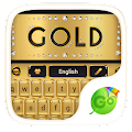 Download gold go keyboard theme APK for Laptop