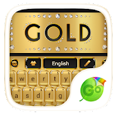 Download  gold go keyboard theme  Apk