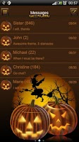 Screenshot of Halloween 2 theme GO SMS Pro