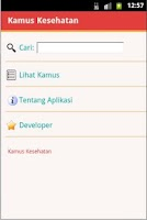Screenshot of Kamus Kesehatan