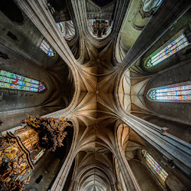Church Ceiling by Matthew Haines - Buildings & Architecture Places of Worship