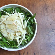 Raw Shaved Fennel, Celery Root and Apple Salad with Buttermilk Dressing