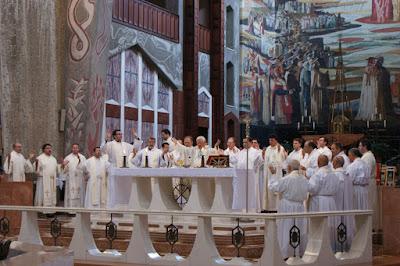 Concelebración en la Basílica de la Anunciación de Nazaret
