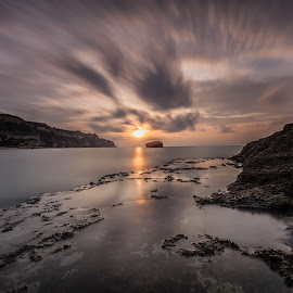 Last light by Andrea Papaleo Ph - Landscapes Sunsets & Sunrises ( clouds, sunset, long exposure, seascape, rocks, filter )