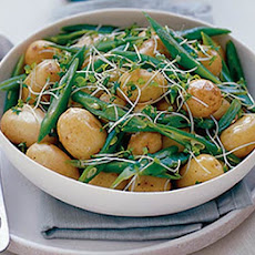 New Potatoes With Beans & Cress