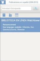 Screenshot of Watchtower Library 2014