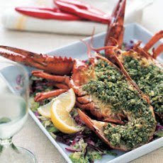 Roasted Lobster with Basil-Mint Pesto