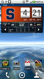 Syracuse Orange Live Clock - screenshot