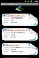 Screenshot of Bank Account Reminder