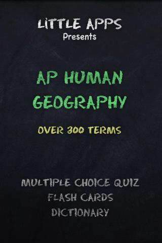 AP HUMAN GEOGRAPHY Terms Quiz