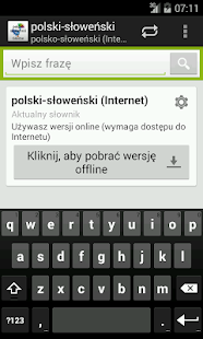 Polish-Slovenian Dictionary - screenshot