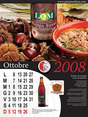 zuppa di farro e marroni con birra Lom del Cajun