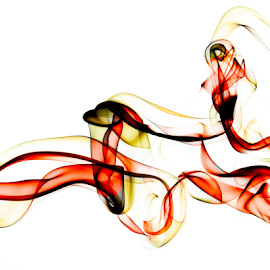 Coloured Smoke by Paul Raybould - Abstract Patterns ( abstract, red, pattern, yellow, smoke )