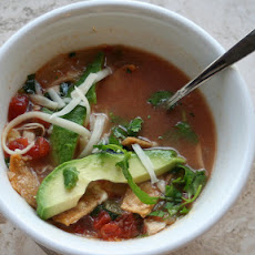 Shrimp and Chicken Tortilla Soup