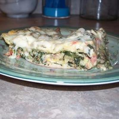 Sausage and Spinach White Lasagne