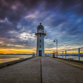 lighthouse by Seng Chan - Landscapes Sunsets & Sunrises ( light#, lighthouse#sunset#longexposure#longtime#sunset#singapore#,  )