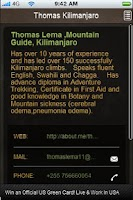 Screenshot of Thomas Kilimanjaro Guide
