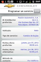 Screenshot of myChevrolet