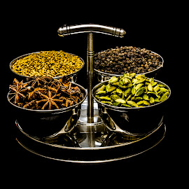 Spices... by Rajeev Krishnan - Food & Drink Ingredients ( cardomom, pepper, aniseed, food photography, spices, black pepper )