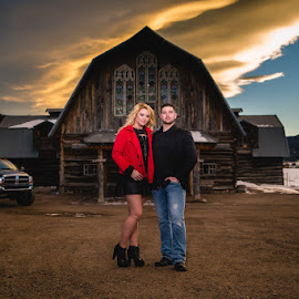 Nick + Janay  by Jared Gant - People Couples ( love, barn, sunset, colorado, couples )