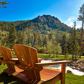 Ultimate Relaxation by Lizzy Foxx - Artistic Objects Furniture ( chair, mountain, park, relax, estes, adirondack, lounge, colorado, Chair, Chairs, Sitting )