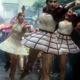 Galway Arts Festival by Mila Chorazyczewska - News & Events Entertainment ( ireland, art, festival, ballerina, rain )