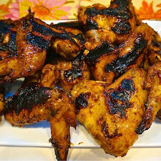 Grilled Chicken Wings with Molasses Barbecue Sauce