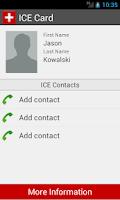 Screenshot of ICE Card