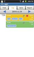 Screenshot of Life Logger - Timesheet App