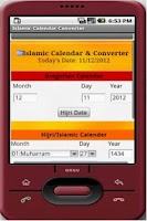 Screenshot of Islamic Calendar Converter