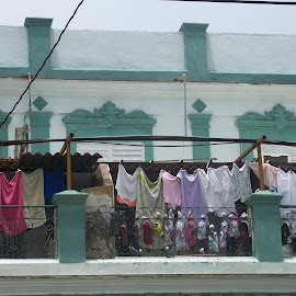 Cuba Balcony of laundry by Danica Anderson - Buildings & Architecture Homes