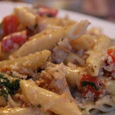 Baked Four-Cheese Pasta With Tomatoes and Basil