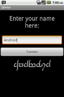 Screenshot of Elvish Translator