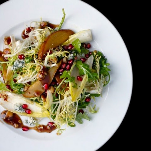 ... Salad with Endive, Pomegranate, Blue Cheese, and Hazelnut Vinaigrette
