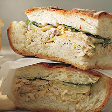 Tuna and Artichoke Cooler-Pressed Sandwiches