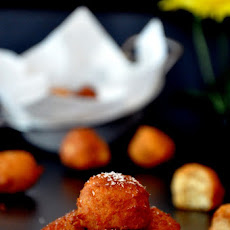 Apple, Cardamom and Mascarpone Doughnut Holes