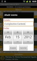 Screenshot of Calendario Laboral España 2014