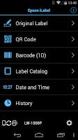 Screenshot of Epson iLabel