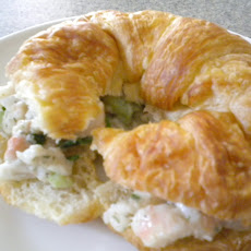 Shrimp Salad on a Croissant with White Bean
