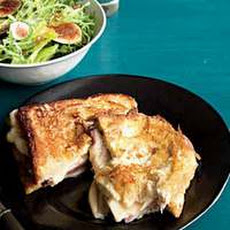 Croque Monsieur-Style Monte Cristo Sammies with Figgy Salad