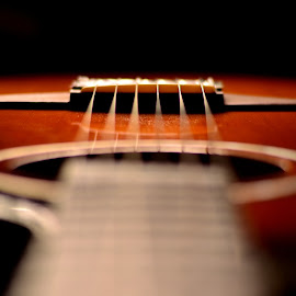 Guitar by Felipe Lima - Artistic Objects Musical Instruments ( shallow dof, guitar, dof, bokeh, light )