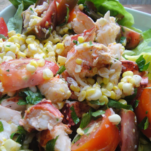 Corn, Tomato, and Lobster Salad