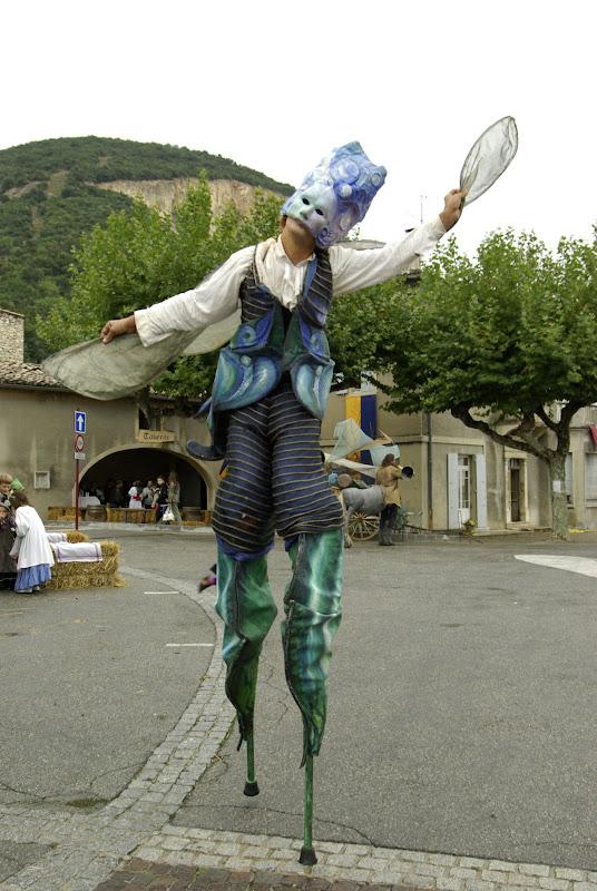 Fête médiévale à Cruas (Ardèche) - Et voilà ces êtres de légende à l'œuvre…